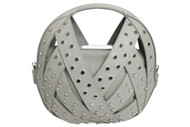 Le Petit Panier - Light Grey w/Studs - Back View