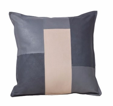 "Goat Skin Cushion 20"" - Tri Color"