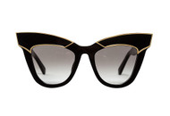 DEPOTISM - Gloss Black with Gold Trim / Black Gradient Lens