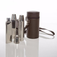 Banger Flask Set Brown Displayed