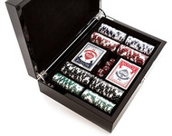The Carbon Fiber Series Game Set Poker Set 200 chips