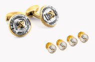 Crystal Button Studs Set