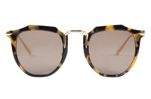 Chateau - Yellow Tort w/ Gold Titanium Brown Lens