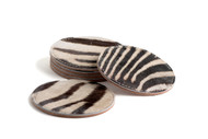 Zebra Coasters Round