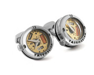 Panorama Watch Cufflinks - Rhodium