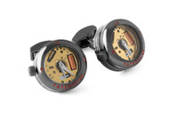 Panorama Watch Cufflinks - Gunmetal