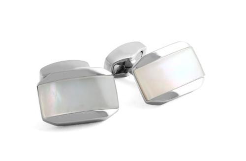 Moonlight Tonneau Cufflinks - White MOP