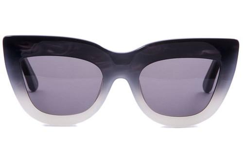 Marmont - Coal Black to White Fade / Black Lens
