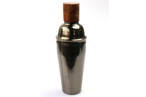 Onyx Cocktail Shaker w/Wood Top