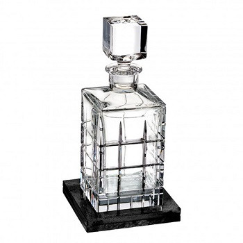 Cluin Decanter Square with Marble Coaster