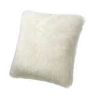 Lambs Wool Cushion Ivory