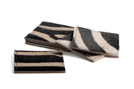 Zebra Coasters Square