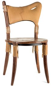 Cook Island Chair - Coffee Oil Leather - Front View