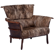 Navajo Armchair - Light Brindle Hide