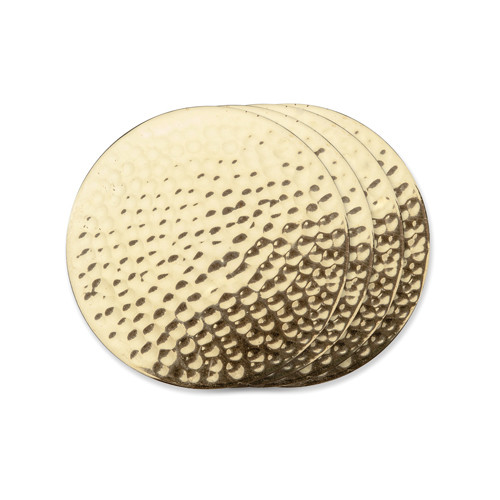 Belmont-Hammered Brass Coaster
