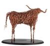 Copper Longhorn Sculpture - Back View