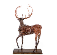 Copper Sculpture - Stag - Back View