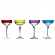 Assorted Color Champagne Flutes
