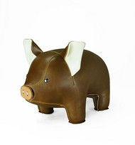 Pig Bookend - Brown