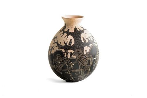 Mata Ortiz by Angel Guerrero Trillo - Small Vase