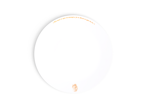 Citations Dinner Plate Top View