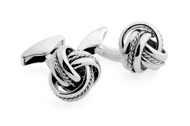 Classic Royal Cable Knot Sterling Silver Cufflinks