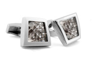 Gems Twisted Silver Cufflinks