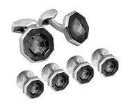 Shirt Studs Cufflink Set SW Web Black