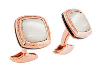 Signature Cushion 18k Rose Gold Cufflinks