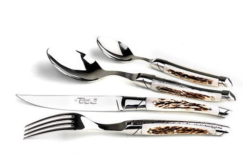 24 Piece set prestige range, deer horn handle