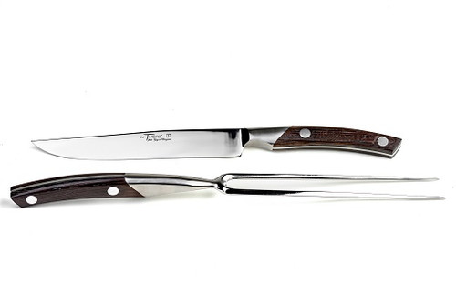 Chef carving set Le Thiers prestige range, hand forged wenge handle, brilliant finish