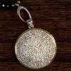 Diamond Disc Necklace Detail