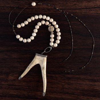 Ivory Antler Necklace
