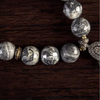 Diamond Bone Teardrop Necklace Stone Detail