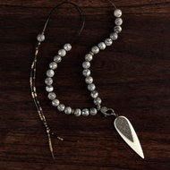 Diamond Bone Teardrop Necklace