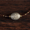 Silver and Diamond Choker Stone Detail