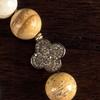 White and Tan Quartz Necklace Stone Detail