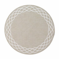 Helix Round Mat - Khaki White