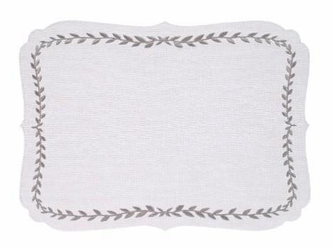 Laurel Mat - White Silver
