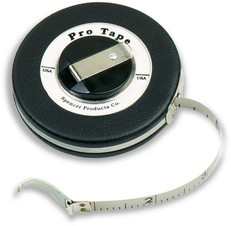 Spencer Pro Tape Chrome Clad Diameter Tape with Claw Hook