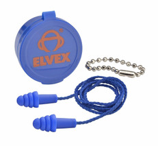 Elvex Quattro Reusable Ear Plugs EP-412
