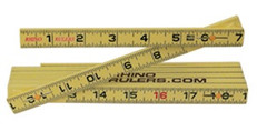 Rhino 6' Carpenters Inside Reading Folding Ruler, 55145