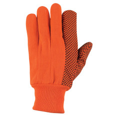 Hi Vis Orange Cotton Gloves, 8808 Gloves, 8808O