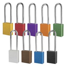 Masterlock Lockout Safety Padlocks, Aluminum - Rectangular
