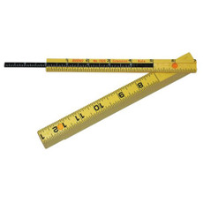 "Rhino 6' Folding Carpenters Ruler w/6"" Sliding Extension, 55160"