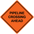 """48"""" x 48"""" Mesh Safety Signs Pipeline Crossing Ahead Sign"""