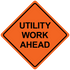 """48"""" x 48"""" Mesh Safety Signs Utility Work Ahead Sign"""