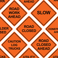 "48"" x 48"" Mesh Safety Signs"