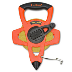Lufkin Hi-Viz Orange Open Reel Linear Fiberglass Combination Tape, FM030CME