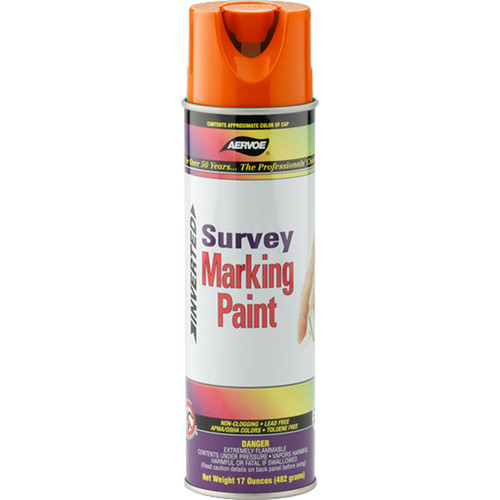 aervoe survey inverted tip marking paint at